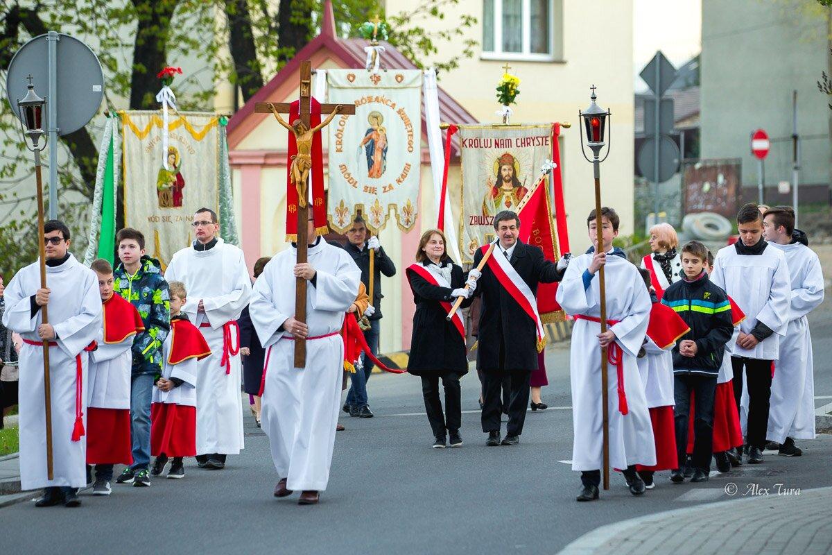 Msza rezurekcyjna u świętego Wojciecha w Jaworznie