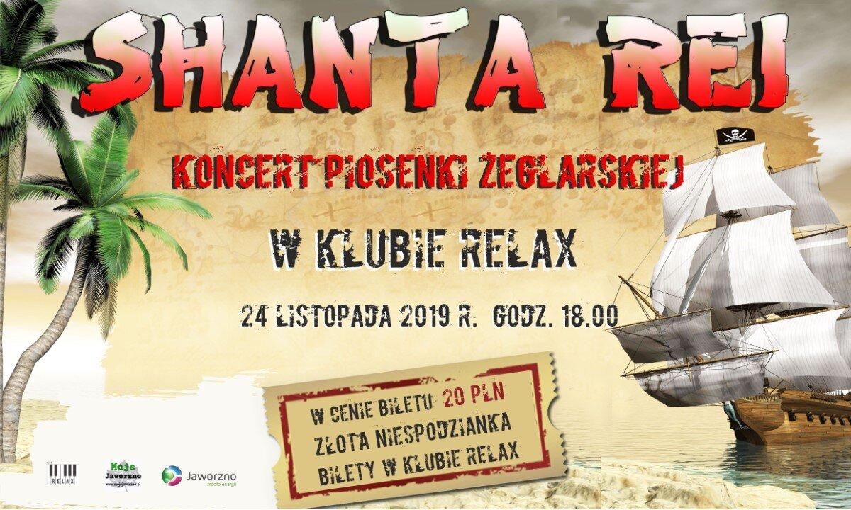 SHANTA REI - Już 24 listopada w Klubie Relax