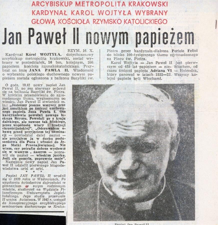 Papież Polak. Jak to było w 1978 - wspomnienia, wycinki, fakty