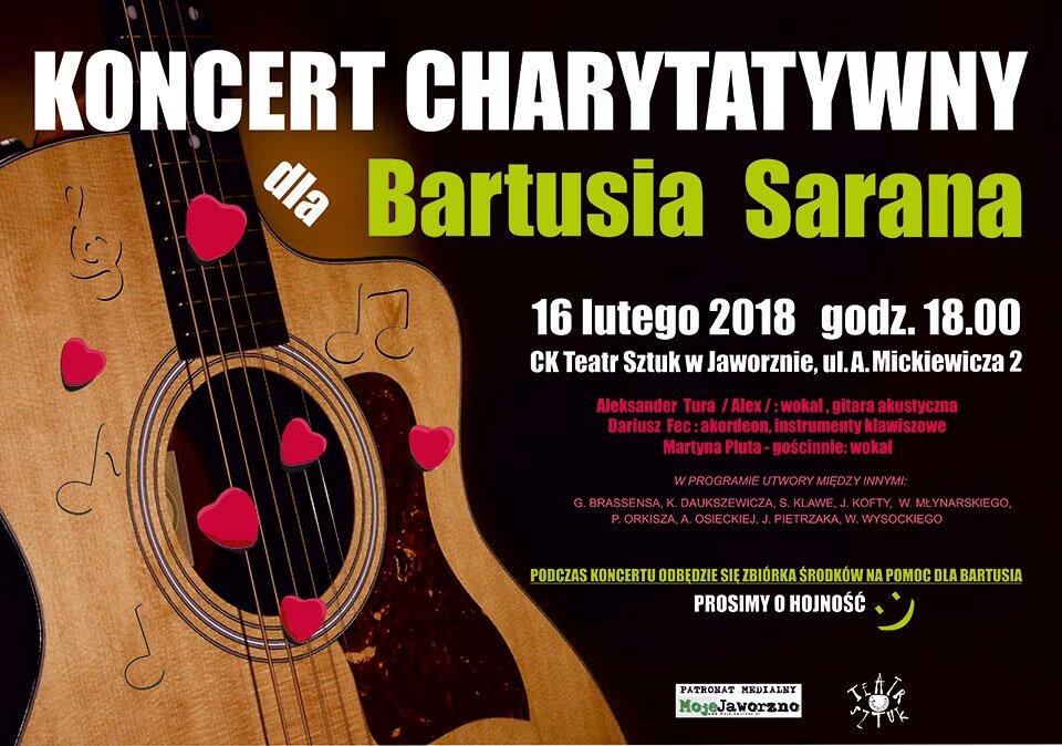Pomożemy wspólnie Bartusiowi Saranowi w rehabilitacji Zapraszamy na koncert