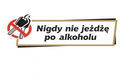 """Akcja """"Znicz 2015"""": naklejka """"Nigdy nie jeżdżę po alkoholu"""" dla każdego trzeźwego kierowcy"""